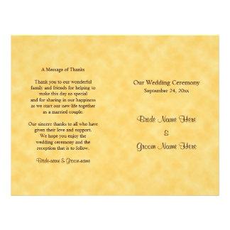 Hochzeits-Programm im Gelb und im Schwarzen Flyer