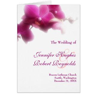 Hochzeits-Programm-Karte - rosa Orchideensammlung Karte
