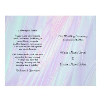 Hochzeits-Programm, Seashell-Art-Muster Flyer