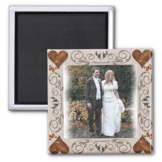 Hochzeits-Rahmen Quadratischer Magnet