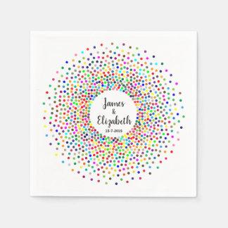Hochzeits-RegenbogenConfetti Papierservietten