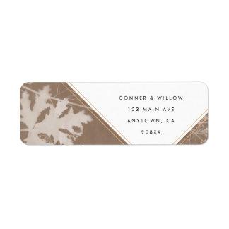 Hochzeits-Rücksendeadresseaufkleber Browns Rücksendeetiketten