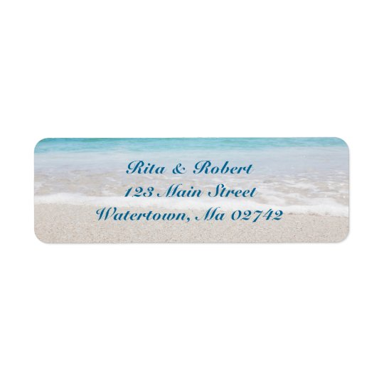 Hochzeits-Rücksendeadressen-Aufkleber - Ozean I Rücksendeetikett