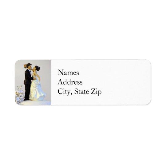 Hochzeits-Rücksendeadressen-Aufkleber Rücksendeetikett