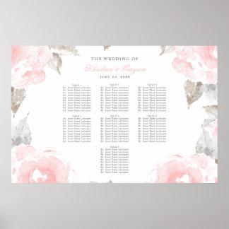Hochzeits-Sitzplatz-Diagramm-Plakat| Poster