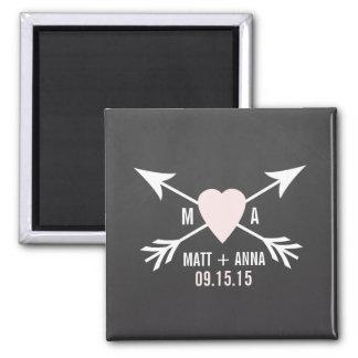 Hochzeits-Tafel-Magneten Quadratischer Magnet