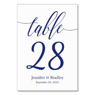 Hochzeits-Tischnummer in der Karte