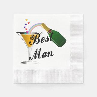 Hochzeits-Trauzeuge Papierserviette