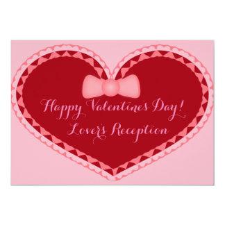 Hochzeits-Valentinstag-romantische Herz-Einladung Karte