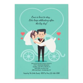Hochzeits-Wagen-Posten-Hochzeits-Brunch-Einladung 12,7 X 17,8 Cm Einladungskarte