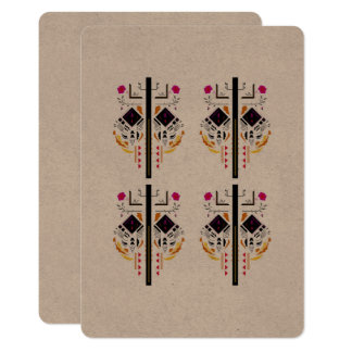 Hochzeitsgruß mit schwarzen Verzierungen/Baum Karte