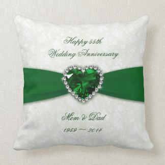 Hochzeitstag des Damast-55. Kissen