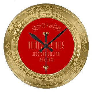 Hochzeitstag des Goldspitze-Rahmen-50. Uhren
