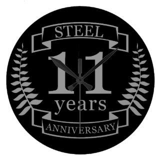 Hochzeitstag des Stahls elfte 11 Jahre Uhren