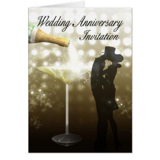 Hochzeitstag-Einladung Champagne Karte