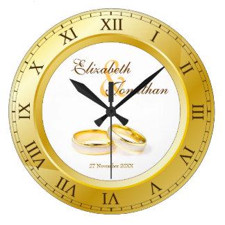 Hochzeitstag-Goldrömische Ziffern kundenspezifisch Uhren