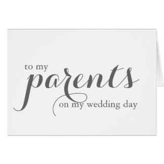 Hochzeitstag-Karte für Eltern Karte
