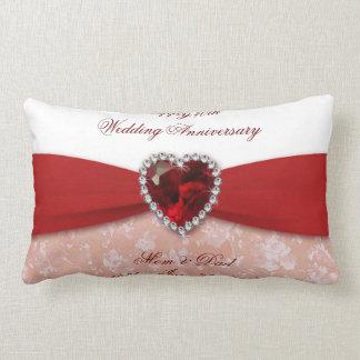 Hochzeitstag-Wurfs-Kissen des Damast-40. Kissen