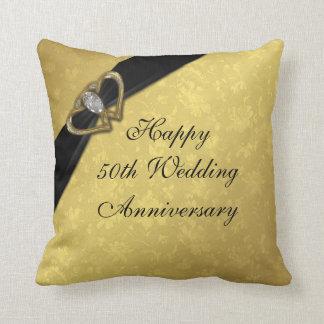 Hochzeitstag-Wurfs-Kissen des Damast-50. Zierkissen