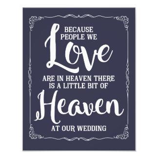 Hochzeitszeichen, Himmel an der Hochzeit, Marine Fotodruck