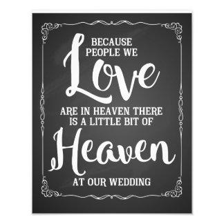 Hochzeitszeichen, Himmel an der Hochzeit, Vintage Fotodruck