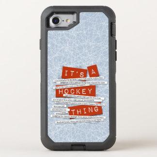 Hockey-Jargon OtterBox Defender iPhone 8/7 Hülle