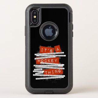 Hockey-Jargon OtterBox Defender iPhone X Hülle