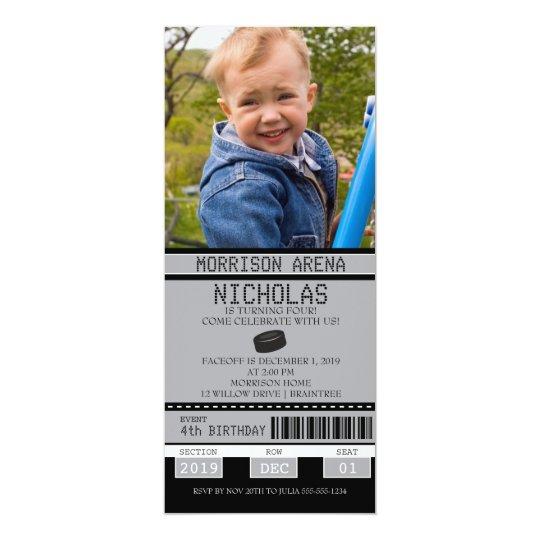 Hockey-Karten-Geburtstag 10,2 X 23,5 Cm Einladungskarte