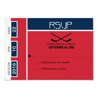 Hockey-Karten-Hochzeit UAWG 8,9 X 12,7 Cm Einladungskarte