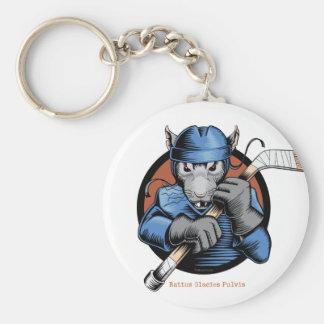 Hockey-Ratte Schlüsselanhänger