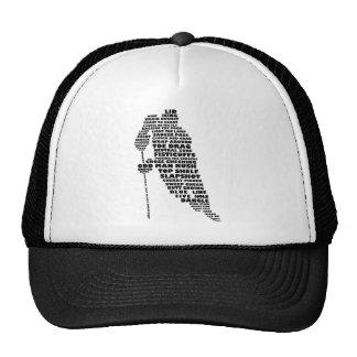 Hockey-Spieler-Typografie-Kunst