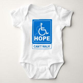 Hoffnung kann nicht gehen Logo Baby Strampler