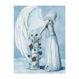 Hoffnungs-Engels-blaues Korsett-gotischer Leinwand Leinwanddrucke