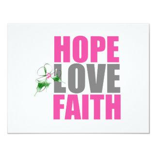 Hoffnungs-Liebe-Glauben-Weihnachtsstechpalme 10,8 X 14 Cm Einladungskarte