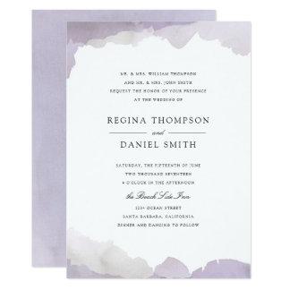 Höfliche Lavendel-Hochzeits-Einladung 12,7 X 17,8 Cm Einladungskarte