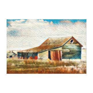 Hohe Ebenen-Scheunen-Malerei Leinwanddruck