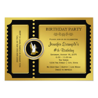 Hohe Fersen-Schuh-goldenes 12,7 X 17,8 Cm Einladungskarte