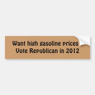 hohe Gaspreise Autoaufkleber