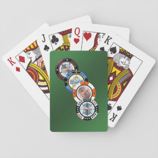 Hohe Rollen-Poker-Chip-Kartenstapeles Spielkarten