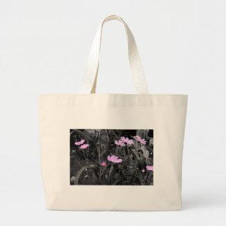 Hohe rosa Mohnblumen im Wind Jumbo Stoffbeutel