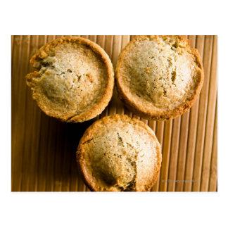 Hohe Winkelsicht der Muffins Postkarte