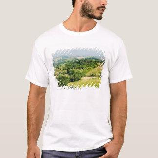 Hohe Winkelsicht einer Landschaft, Siena-Provinz, T-Shirt