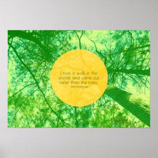 Höher dann die Bäume Poster