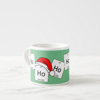 HoHoHo Holmium-Chemie-Element-Weihnachtswortspiel Espresso-Tasse