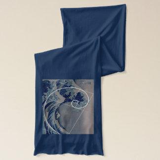 Hokusai trifft Fibonacci, goldenes Verhältnis Schal