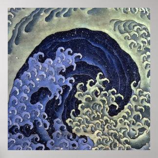 Hokusai weibliche Welle Poster