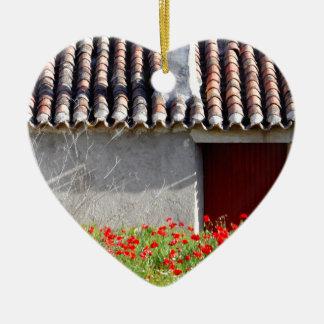 Hola Espana/hallo Spanien-Reise Keramik Herz-Ornament