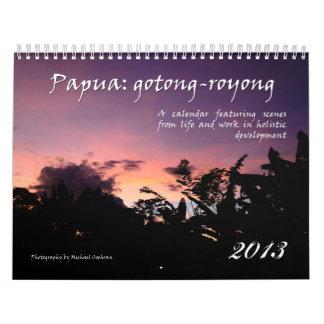 Holistischer Entwicklungs-Kalender 2013 Papuas Wandkalender