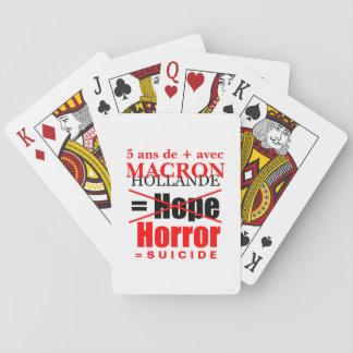 Holland und Macron es ist der Schrecken Spielkarten