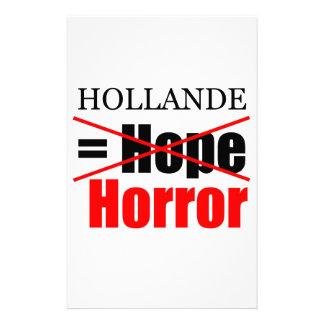 Hollande nicht Hoffnung = Horror - Briefpapier